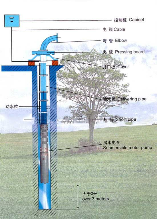 Stainless Steel Submersible Pump Installation Diagram Jpg