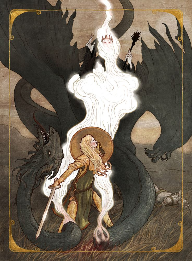 Eowyn and the Nazgul by bluefooted on @DeviantArt