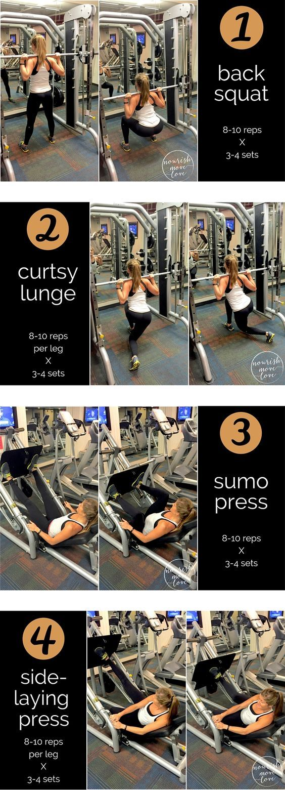 Post Holiday Workout -- Leg Day Workout -- 4 moves to build muscle and burn fat | www.nourishmovelove.comPost Ho