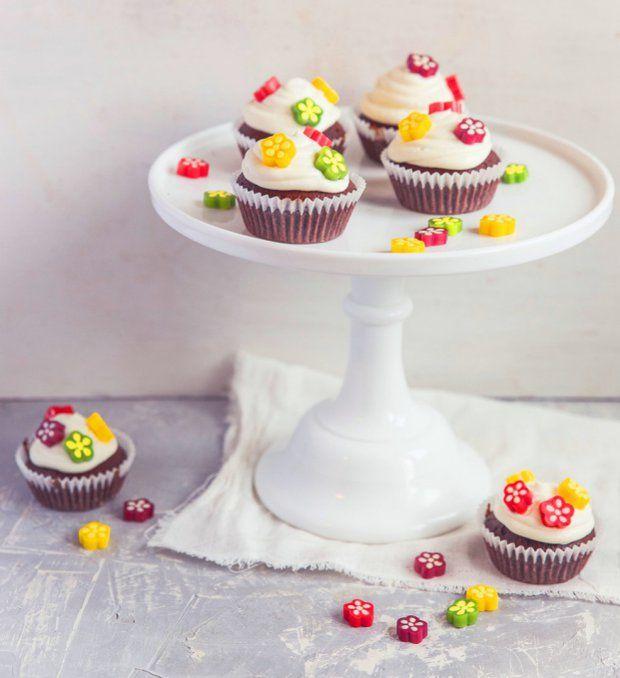 Květinové čokoládové cupcakes , Foto: archiv Haribo