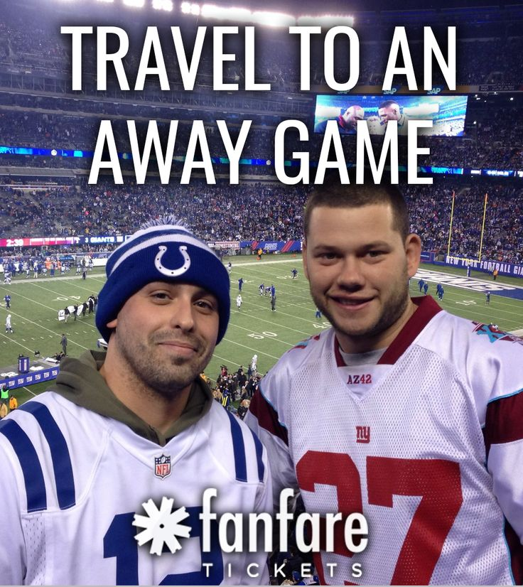 Bucket list: Travel to an away game. Buy tickets at fanfaretickets.com