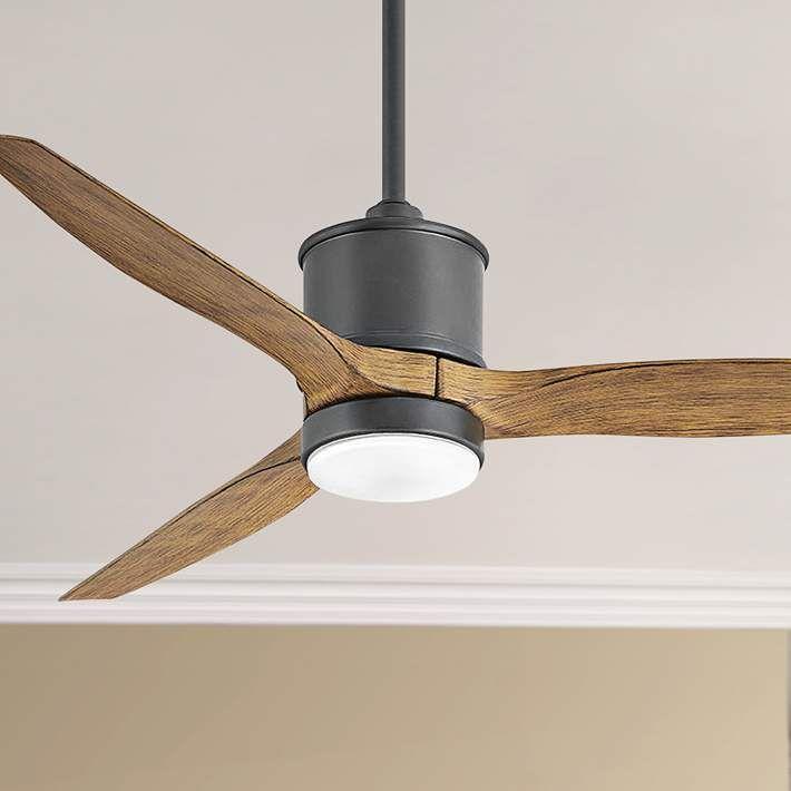 52 Hinkley Hover Matte Black Wet Location Led Ceiling Fan 84j76 Lamps Plus Led Ceiling Fan Ceiling Fan Dimmable Led Lights Ceiling fan with led light