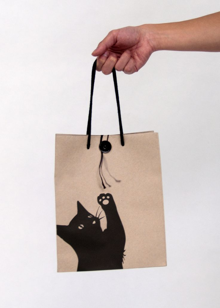 Who doesn't like a cute kitty cat #bag #packaging : ) PD