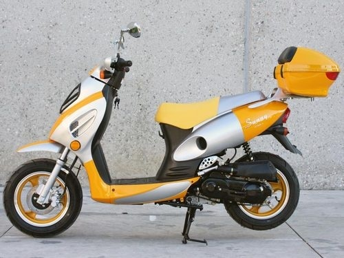 NEW Sunny Powersports MC-D150E YELLOW Gas Metro 150cc Moped Scooter w/ Trunk , $1399