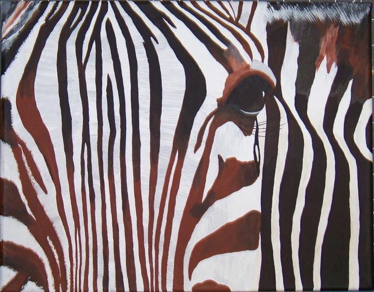 Are You Close Enough #Zebra #art #thecraftstar $94.00