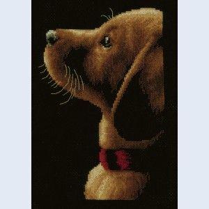 """""""Labrador"""": borduurpakket met telpatroon om zelf te maken"""