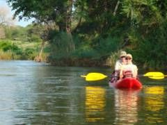 Canoeing trips in the Kruger National Park with Great Limpopo Wilderness Camps & Trails. Paddle the Rio Elefantes: From the Shingwedzi to the Limpopo river confluences in Mozambique. In season, cast for tiger fish, and camp along the river on this guided and catered adventure. #dirtyboots #canoeing #krugerpark #southafrica