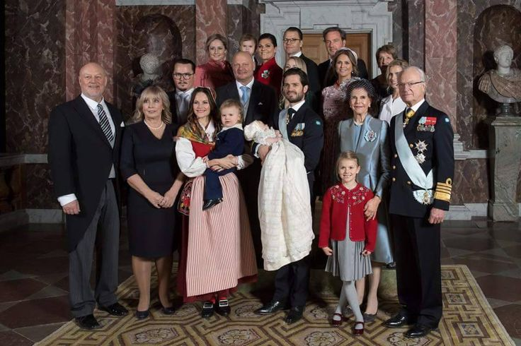 """swedishroyals: """" Princess Madeleine posted on her Facebook page: """" Today we gathered at Drottningholm for a beautiful christening ceremony for little Prince Gabriel. I'm honoured to be one of his god..."""
