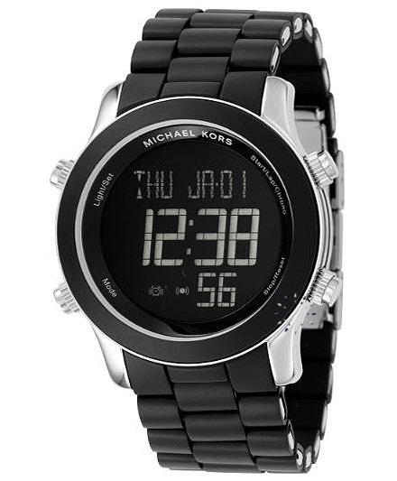 Michael KORS Digital Chronograph Black Rubber Strap Μοντέλο: MK9005 Τιμή: 289€ http://www.oroloi.gr/product_info.php?products_id=32655