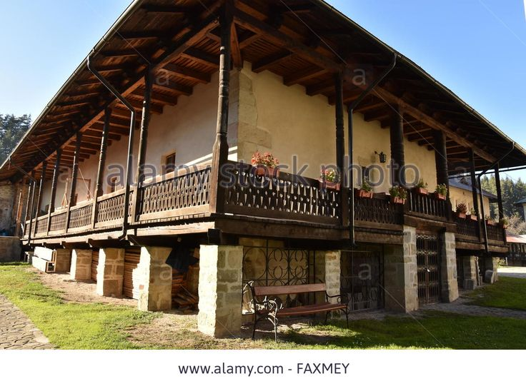 Download this stock image: At Bistrita Monastery - old architecture - FAXMEY from Alamy's library of millions of high resolution stock photos, illustrations and vectors.
