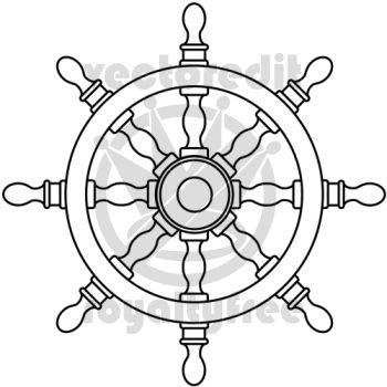 Sea Ship Wheel Tattoo Drawing   Ships Wheel vector illustration