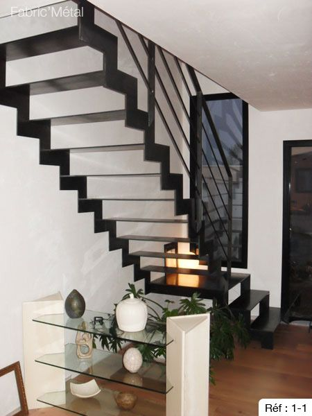 36 best escalier a cremaillere images on pinterest. Black Bedroom Furniture Sets. Home Design Ideas