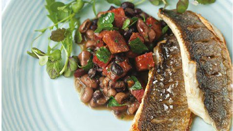 Sea Bass with Chorizo Cassoulet - RTE Food