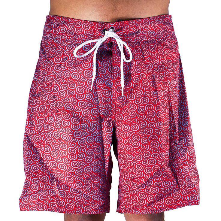 Trunks Men's Salty Board Shorts – Poppy Swirls