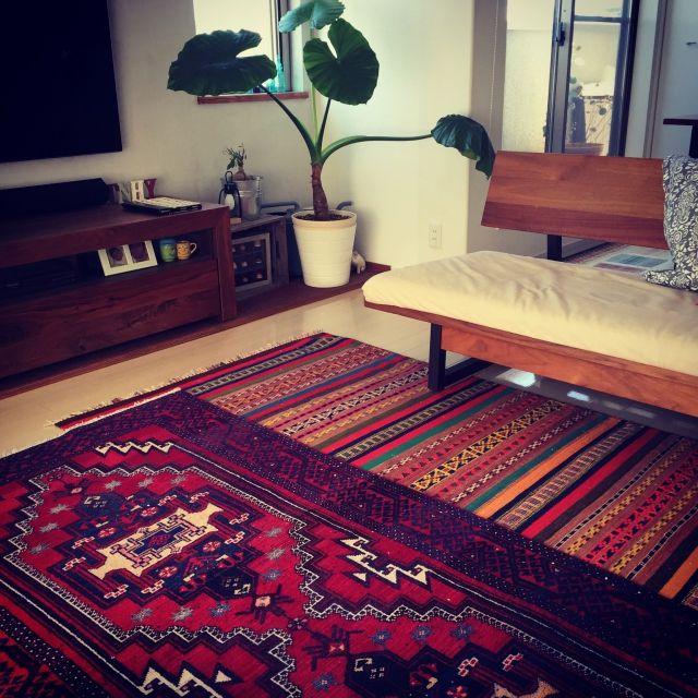 ペルシャ絨毯/キリム/ラグ/クワズイモ/Loungeのインテリア実例 - 2015-03-12 02:22:33 | RoomClip(ルームクリップ)