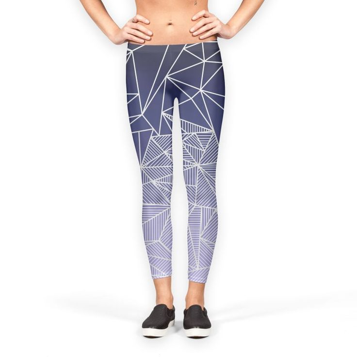 'Bayo Rays' Leggings by fimbis on miPic  #geometric #gradient #stripes #leggings #navy #purple #lilac #fashion #style #lifestyle #yoga #yogapants #exercise #fitness #fitfam #relaxation