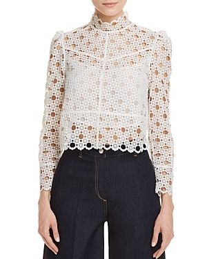 c29a6c21afd080 SANDRO CORALISSE EYELET-LACE TOP. #sandro #cloth # | Sandro | Lace ...