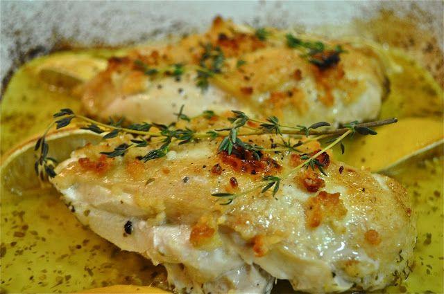 Κοτόπουλο+λεμονάτο+με+σκόρδο+και+μυρωδικά
