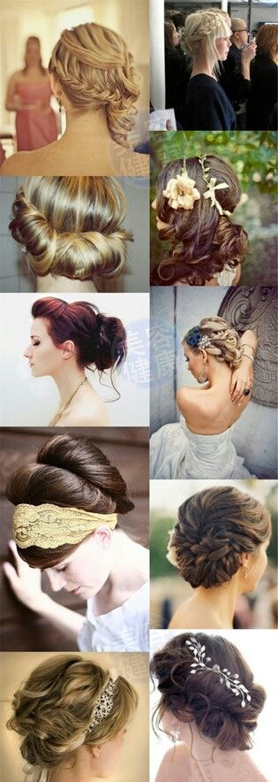 I love these messy vintage upstyles, wish my hair would do this