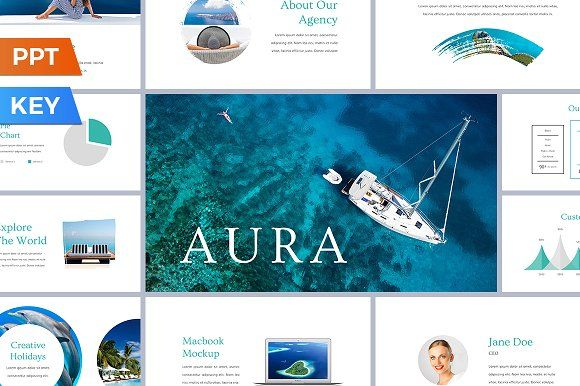 Aura Presentation Template by SlideStation on @creativemarket