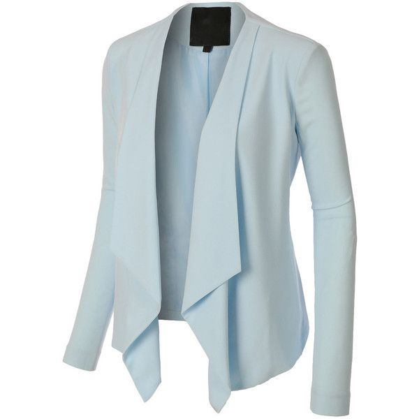 draped blazer, lightweight blazer, open front blazer, long sleeve blazers for women, womens blazer jacket