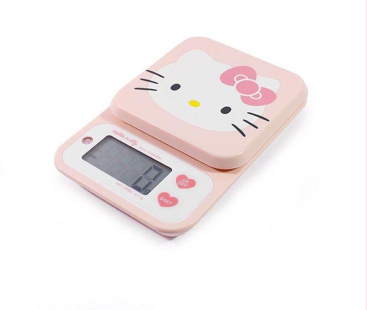 Hello Kitty Digital Cooking Scales Pink Ks-251kp Digital Weighing Balance 2kg #HelloKitty