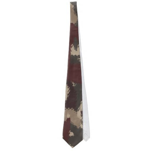 Abstract Military Camouflage Pattern Tie, by FOMAdesign