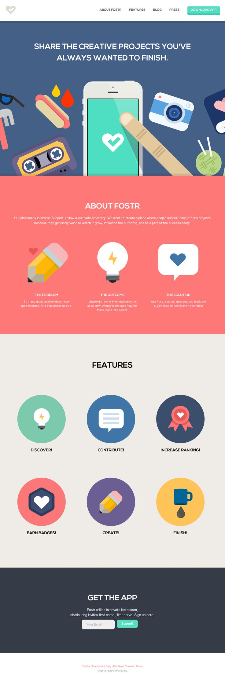 Nice app website - flat design - illustration  I'm kind if obsessed with flat design lately.