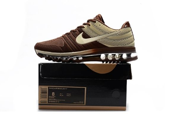 release date 94bd0 08152 Nike Air Max 2017 Top Running Shoes Mens Brown Beige by ...