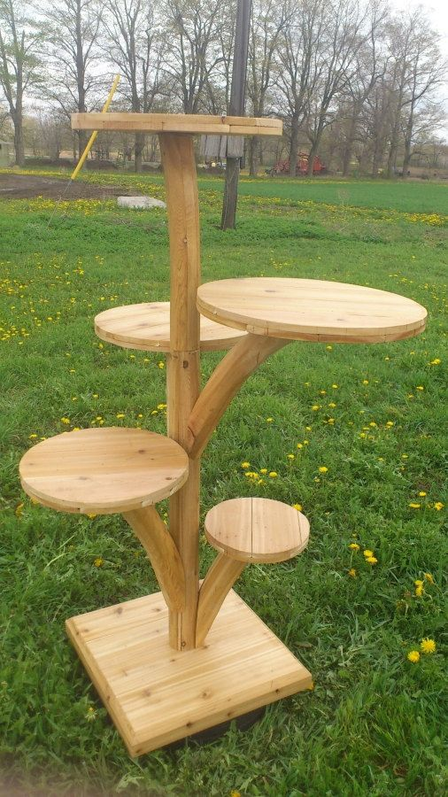 Outdoor cat tree for use in rainy or humid locations