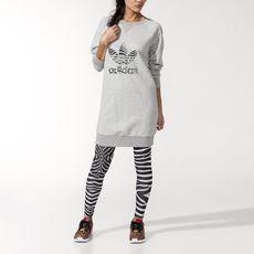 adidas - Sweatshirt Jurk Medium Grey Heather M30776