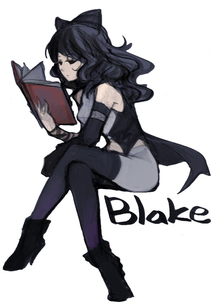 Blake Belladonna from RWBY Render Original Art by Gogo
