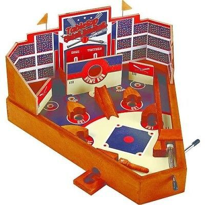 Other Vintage and Antique Toys 30: American Vintage Baseball Pinball Game -> BUY IT NOW ONLY: $36.5 on eBay!