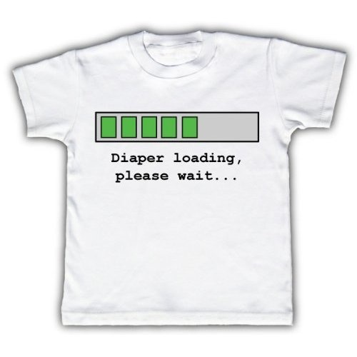 Diaper loading please wait - Funny Toddler Kids T-shirt by Funny Tots