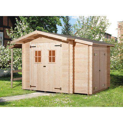 89d63d00ec46e Weka Drevený záhradný domček Bologna 340 cm x 200 cm prírodný ...