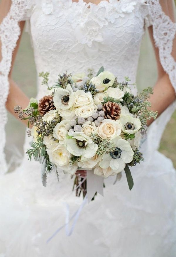 winter wedding flowers 25 best ideas about pinecone bouquet on 1445