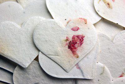 Seeded Paper Hearts - Petal & Plain