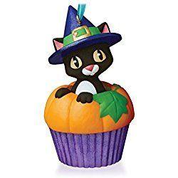 Punkin' Kitty Keepsake Christmas Cupcake Ornament 2015 Hallmark