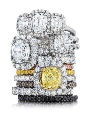 Henri Daussi diamond engagement rings and wedding bands