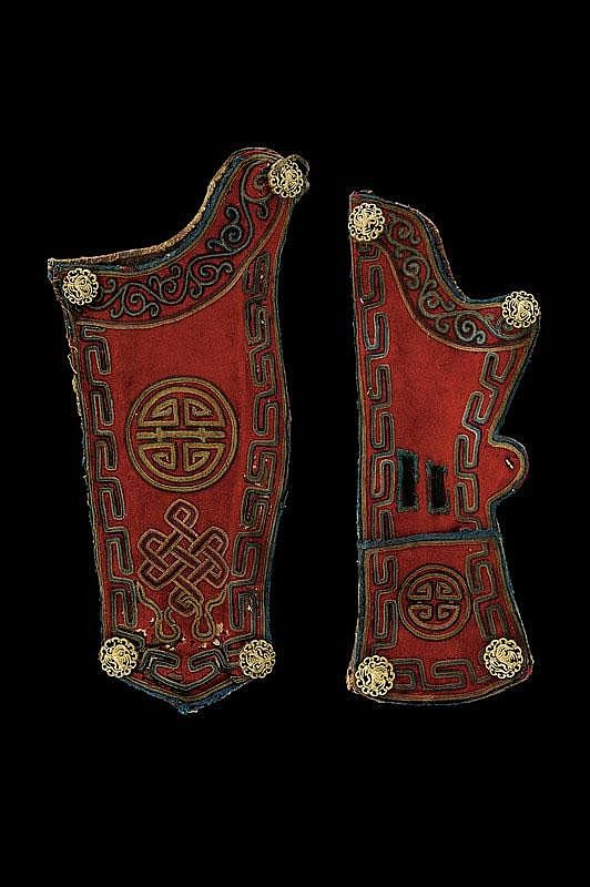 Bow case and quiver, Tibet, 19th century.