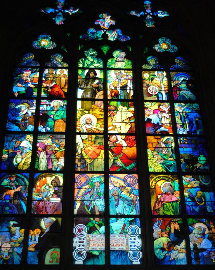 Alfons Mucha stained glass window, Prague Castle