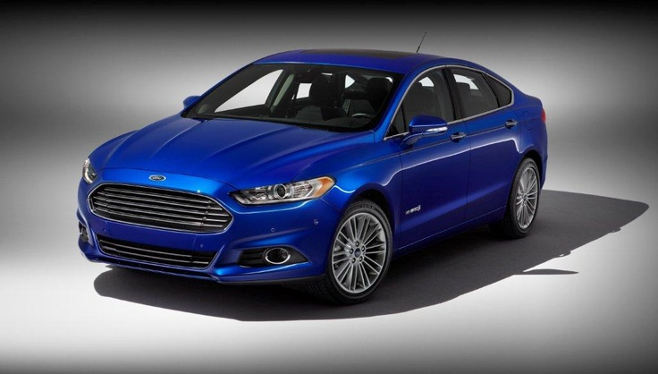 A sneak peek at the 2013 Ford Fusion Hybrid.