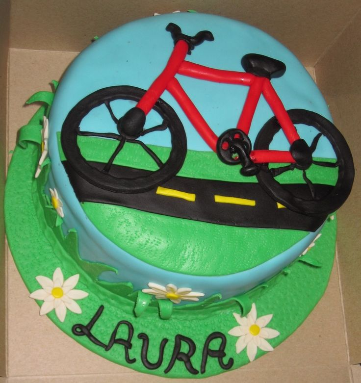 Road Bike Cake Decoration : 1000+ images about Cake (Bicycle) Examples on Pinterest ...