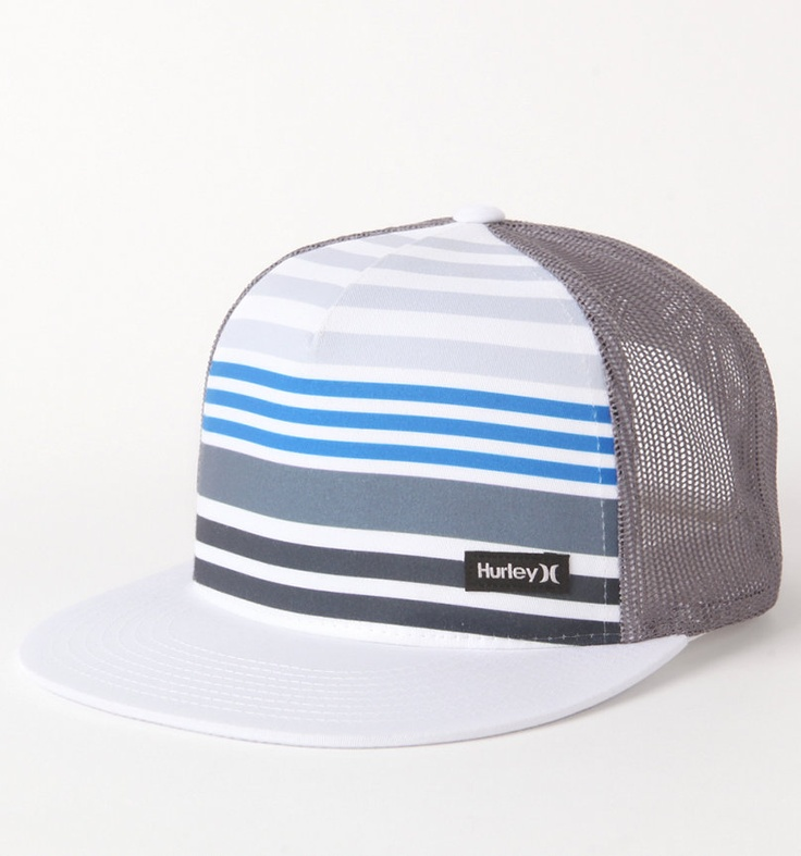 Sick Hat, blending blues with shades of grey.