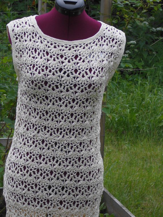 MADE TO ORDER Crochet Lace Dress Custom Made, Hand Made, Crochet - mercerised 100% Cotton