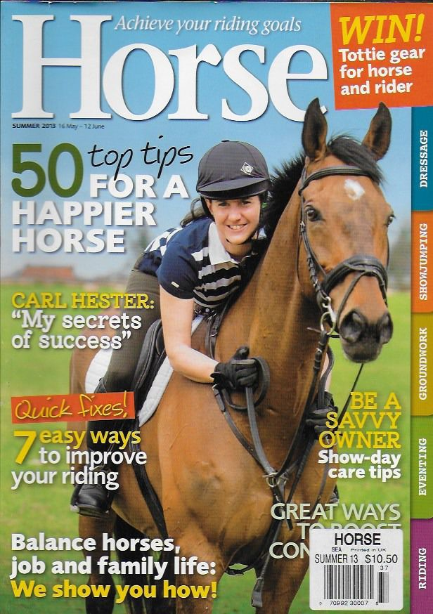 Horse magazine Riding tips Savvy owner Balance Carl Hester success secret tips