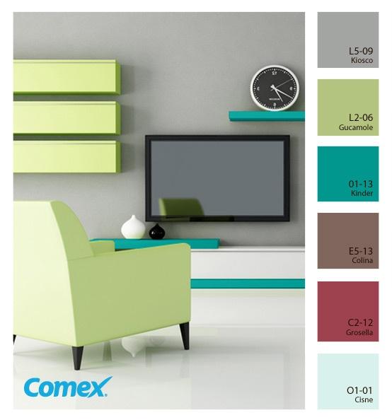 17 mejores im genes de comex en pinterest paletas de for Paleta de colores para interior de casa
