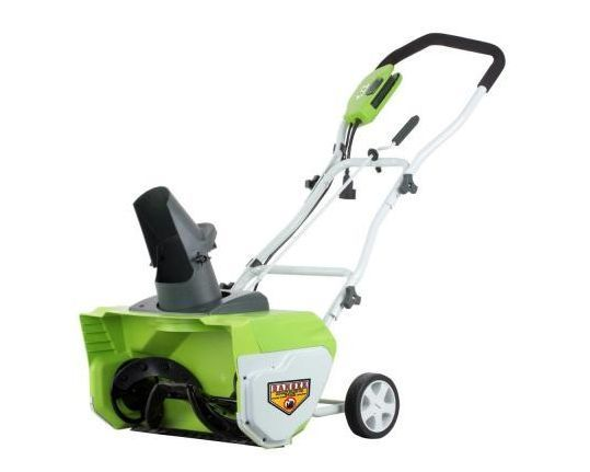 Greenworks 20 in Corded Electric Snow Blower #Greenworks