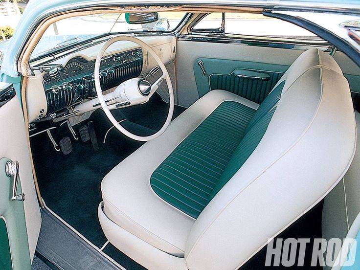 Beautiful Classic Tuck And Roll Interior In Two Tone Winter Green White Looks Like Its A Custom Mercury Merc Leadsled Lead Sled