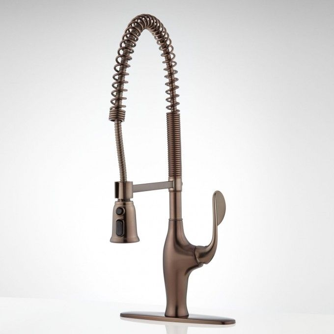 """Dayton Kitchen Faucet with Spring Spout and 8"""" Deck Plate"""